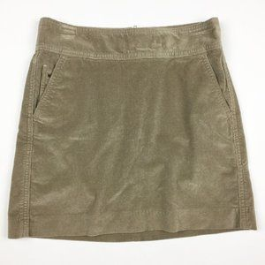 🌷BANANA REPUBLIC Tan Corduroy Straight Mini Skirt